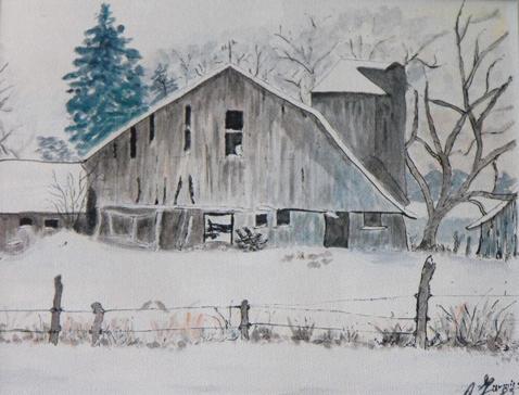 Barn.  Rural Ontario, near Cambridge. 1983.